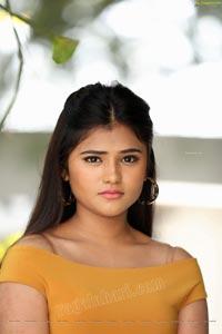 Rishika Nisha in Yellow Solid A-Line Dress