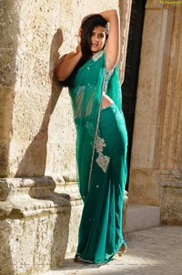 Deeksha Seth in Georgette Saree