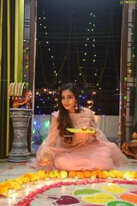 Sanjana Anne Diwali Photoshoot