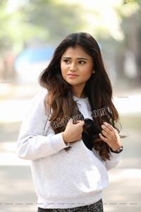 Rishika Nisha in White Full Sleeves T-Shirt