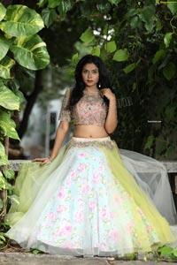 Swati Mandal in Primrose Yellow Embroidered Lehenga