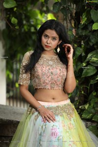 Swati Mandal in Primrose Yellow Embroidered Lehenga