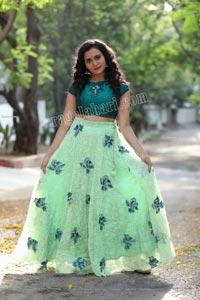 VJ Jaanu in Emerald Green Crop Top