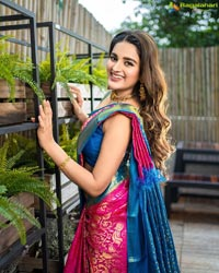 Nidhhi Agerwal in Traditional Silk Saree