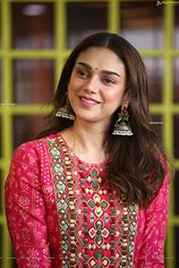 Aditi Rao Hydari at Maha Samudram Movie Interview