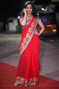 Usha Kurapati at Pelli SandaD Pre-Release Event