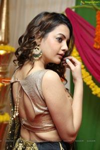 Diksha Panth Black Half Saree