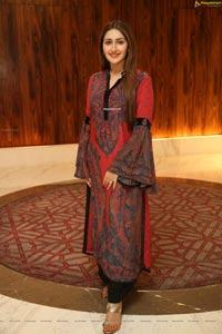 Sayyeshaa Saigal Stills at Bandobast Pre-Release Event