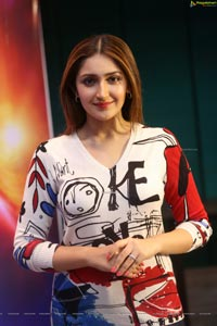 Sayyeshaa Saigal at Bandobast Press Meet