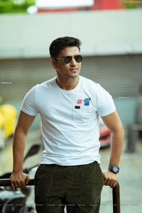 Nikhil Siddharth in a White-tee and Cargo Pants
