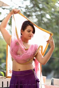 Preyasi Jiggar in Purple Lehenga Choli