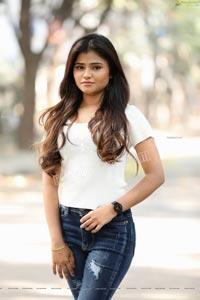 Rishika Nisha Posing on Motorcycle