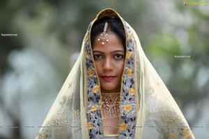 Shaik Faiza in Ash Grey Embellished Lehenga Choli