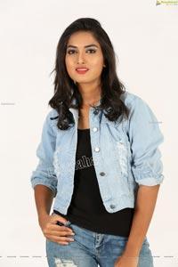 Siri Khanakan in Denim Jacket and Jeans