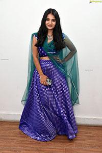 Ananya Nagalla in Blue Designer Lehenga Choli