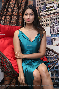 Archana Ravi in Teal Blue Side Slit Dress