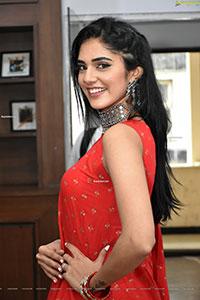 Kritya Sudha in Red Embellished Kurta