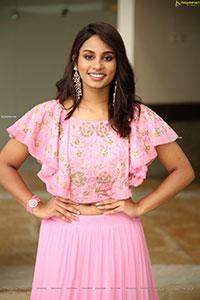 Pavani Bhimeneni Stills in Pink Designer Lehenga