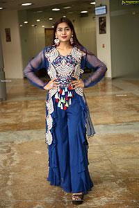 Sheetal in Blue Designer Lehenga