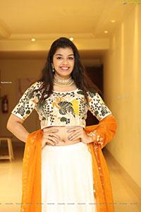 Shruthi Sharma in Off White Designer Lehenga