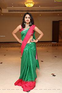 Suchitra in Beautiful Green Saree