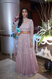 Vishnupriya Bhimeneni Stills in Pastel Pink Lehenga Choli