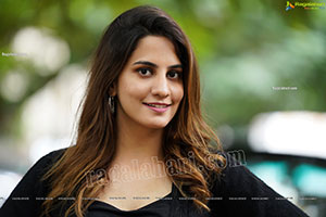 Tejal Tammali Exclusive Photoshoot in Black Knitted Dress