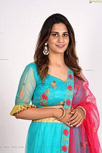 Tejal Tammali in Cyan Blue Embellished Lehenga