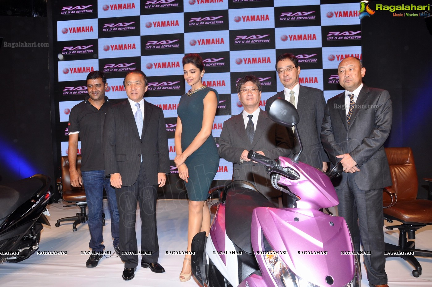 Deepika Padukone unveils the new Yamaha RAY