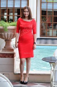 Jwala Gutta Bright Red Pencil Dress