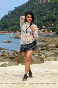Tashu Kaushik Hot White Lace Top Beach Wear