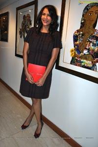 Lakshmi Prasanna at Praveen Jagarlamudi Art Exhibition