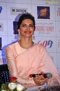 Deepika Padukone in Pink Saree